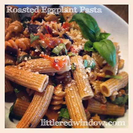 Roasted Eggplant Pasta: a Recipe in Instagrams - Little Red ...