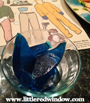Breaking Bad Blue Jello Shots Recipe from littleredwindow.com