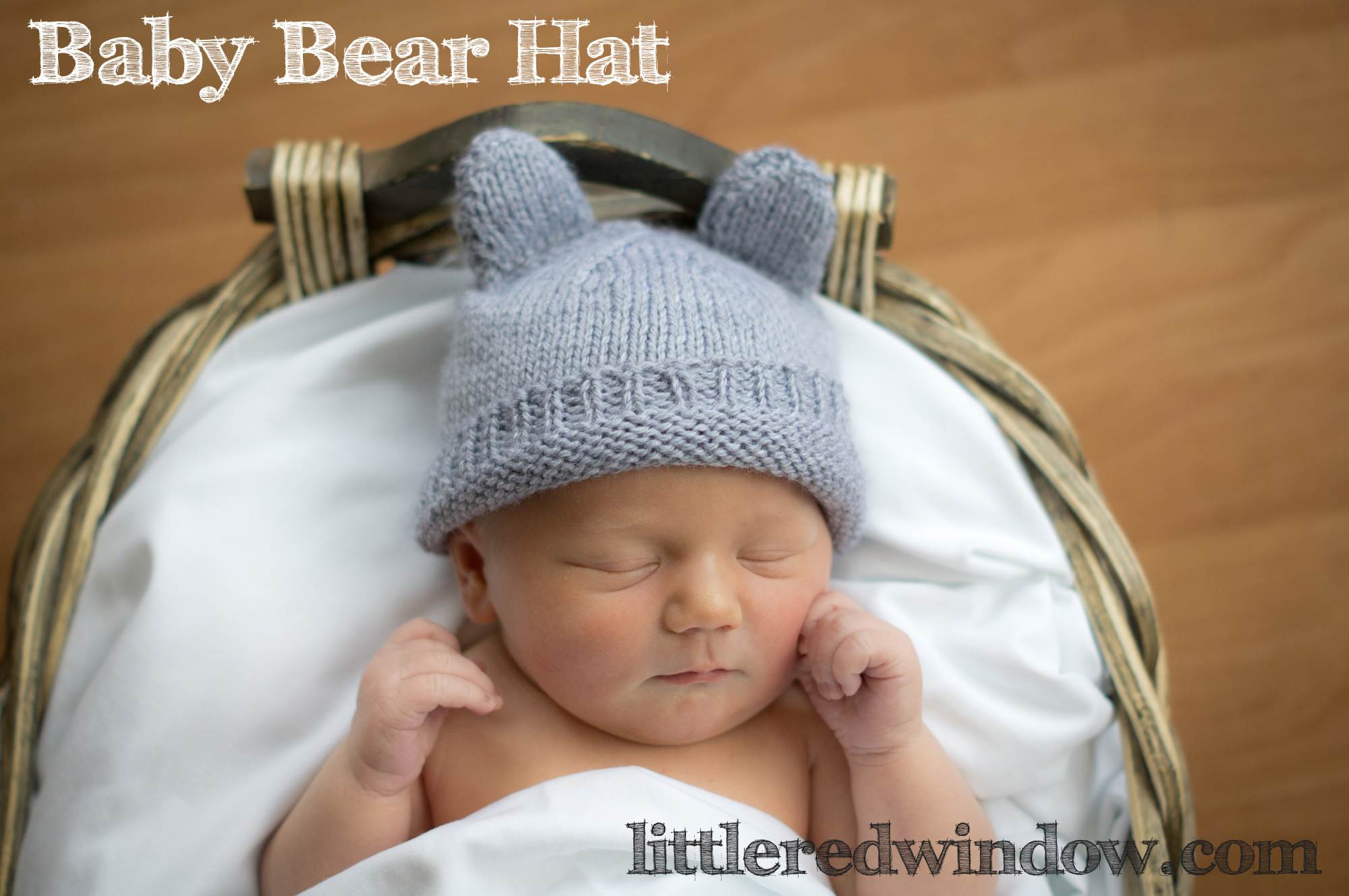 Tiny Baby Hat Knitting Pattern : Baby Bear Hat - a knitting pattern by Little Red Window