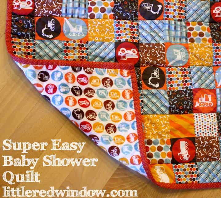 Super Easy Baby Shower Quilt Little Red Window