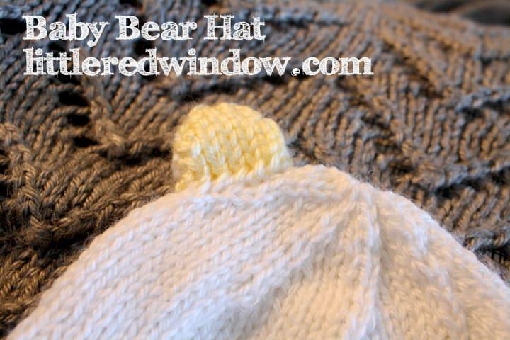 Baby Bear Ears Knitting Pattern by Little Red Window