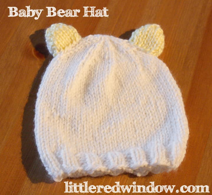 Baby Bear Ears Knitting Pattern by Little Red Window