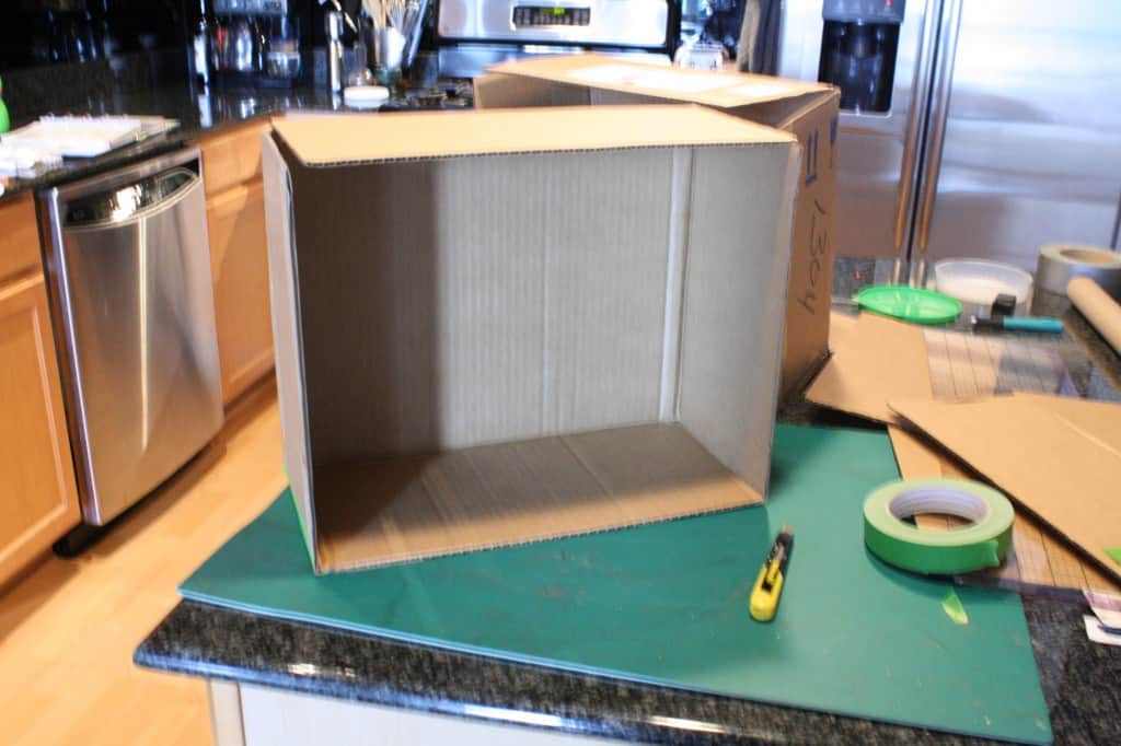 Recycled Cardboard Box for DIY doll house by Little Red Window