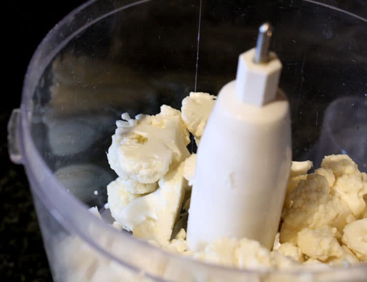 Cauliflower in a Food Processor Little Red Window