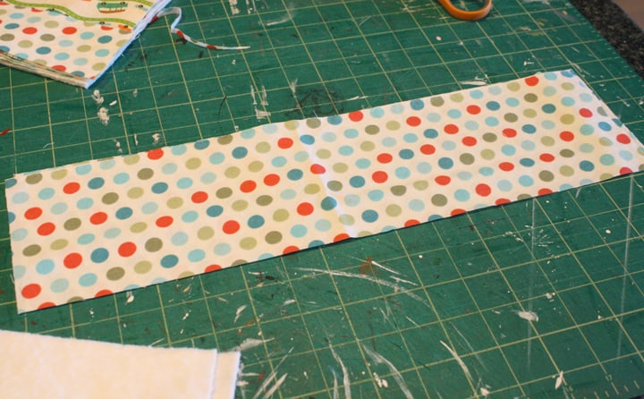 4.5 x 16 fabric for tote bag handles on Little Red Window