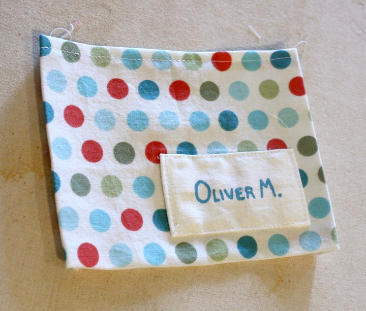 patch pocket for tote bag on Little Red Window