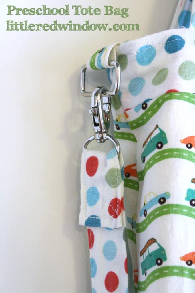 Preschool Tote Bag with cross body strap by Little Red Window