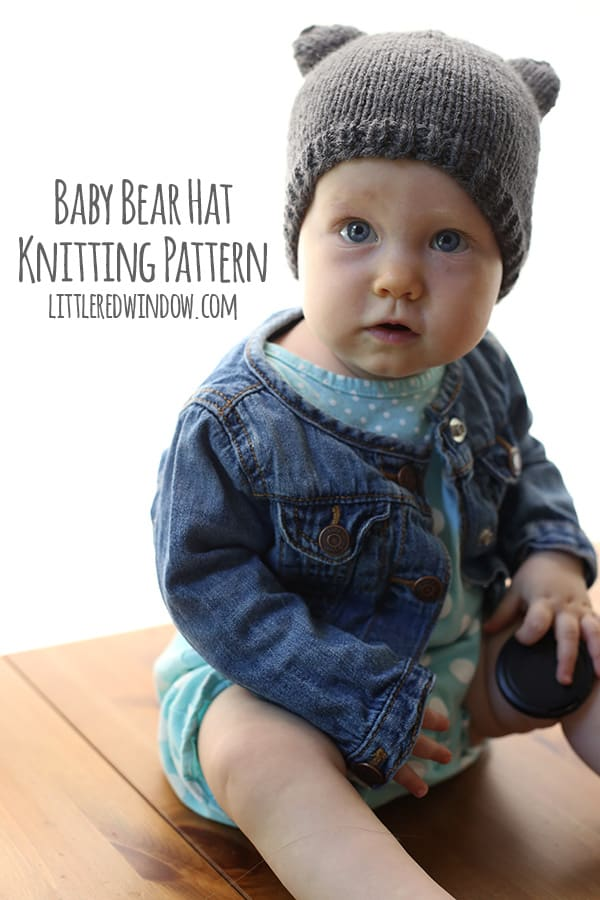 Knitting Pattern Baby Hat With Ears : Baby Bear Hat - a knitting pattern by Little Red Window