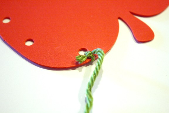 Apple Lacing Cards on Little Red Window