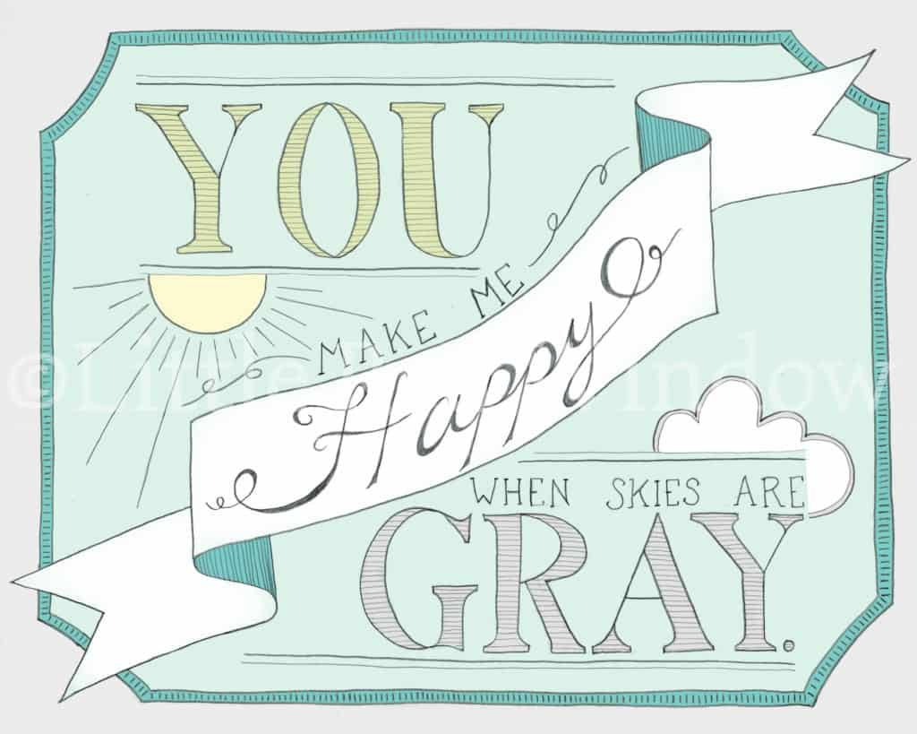 You are my sunshine Printable print by Little red Window Design
