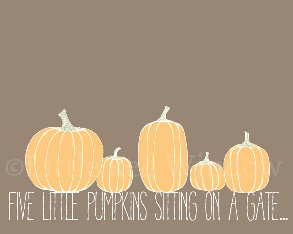 Pumpkins printable by Little Red Window Design