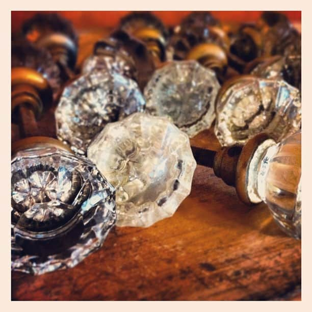 vintage glass doorknobs
