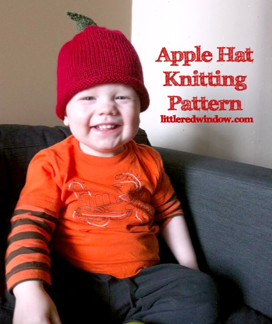 Apple Hat Knitting Pattern by Little Red Window