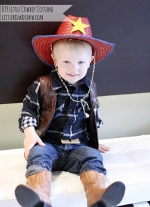 DIY Little Cowboy Halloween Costume by Little Red Window