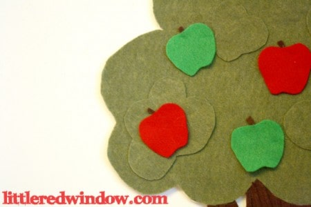 Apple Tree Felt Board by Little Red Window