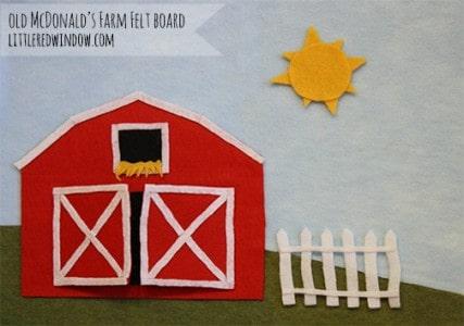 Old McDonald's Farm Felt Board by Little Red Window