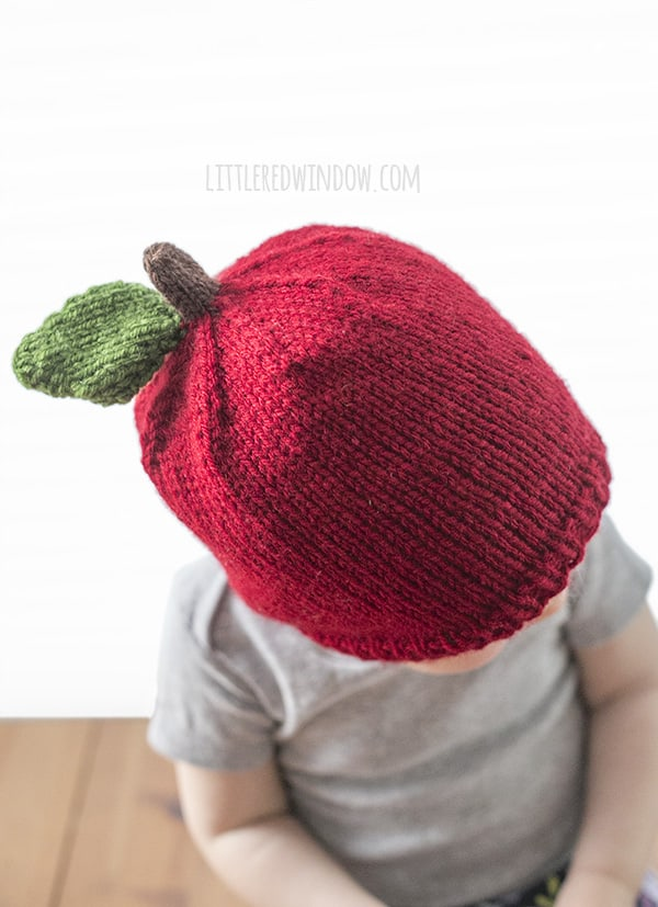 Apple Hat Knitting Pattern - Little Red Window