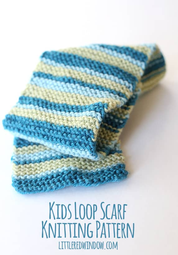 Kids Loop Scarf Knitting Pattern - Little Red Window