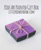 Kids Art Painted Gift Box