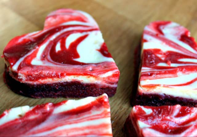 Red Velvet Cheesecake Swirl Brownies from Life and Kitchen