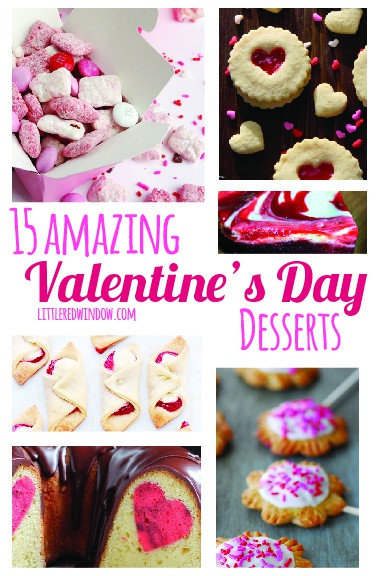 15 Amazing Valentine's Day Desserts, a great round-up of holiday sweets by littleredwindow.com