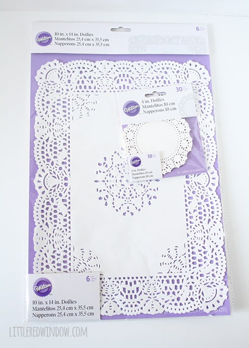 Lace Doily Easter Eggs  | littleredwindow.com  |  Make your own beautiful decoupage Lace Doily Easter Eggs--full tutorial!