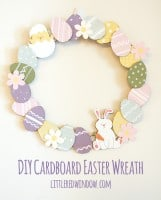 Cardboard Easter Wreath