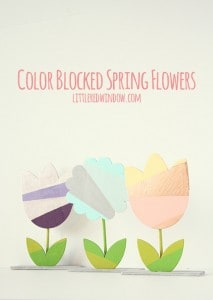 Color Blocked Spring Flowers | littleredwindow.com | Make these colorful and happy flowers to brighten up your house!