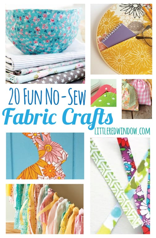 20 Fun No Sew Fabric Crafts on Ikea Peanut Table