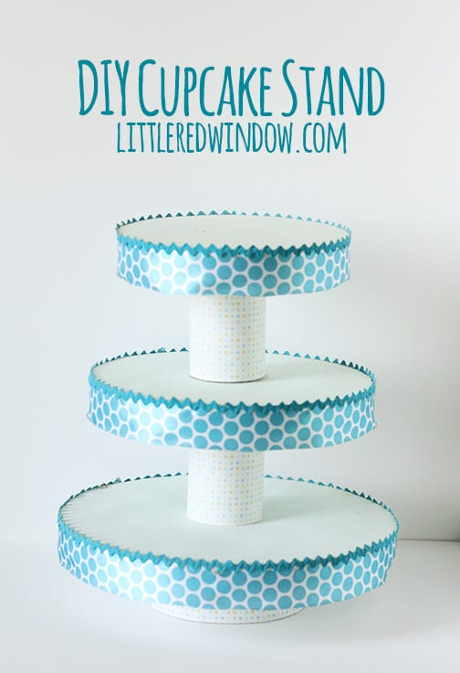 Design Your Own Cake Stand : DIY Cupcake Stand - Little Red Window