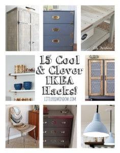 15 Cool & Clever Ikea Hacks! | littleredwindow.com