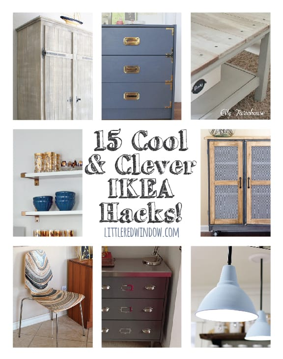 15 Cool & Clever Ikea Hacks!  | littleredwindow.com