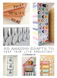 20 Amazing Crafts to Keep Your Life Organized! | littleredwindow.com