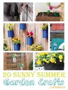 20 Sunny Summer Garden Crafts | littleredwindow.com