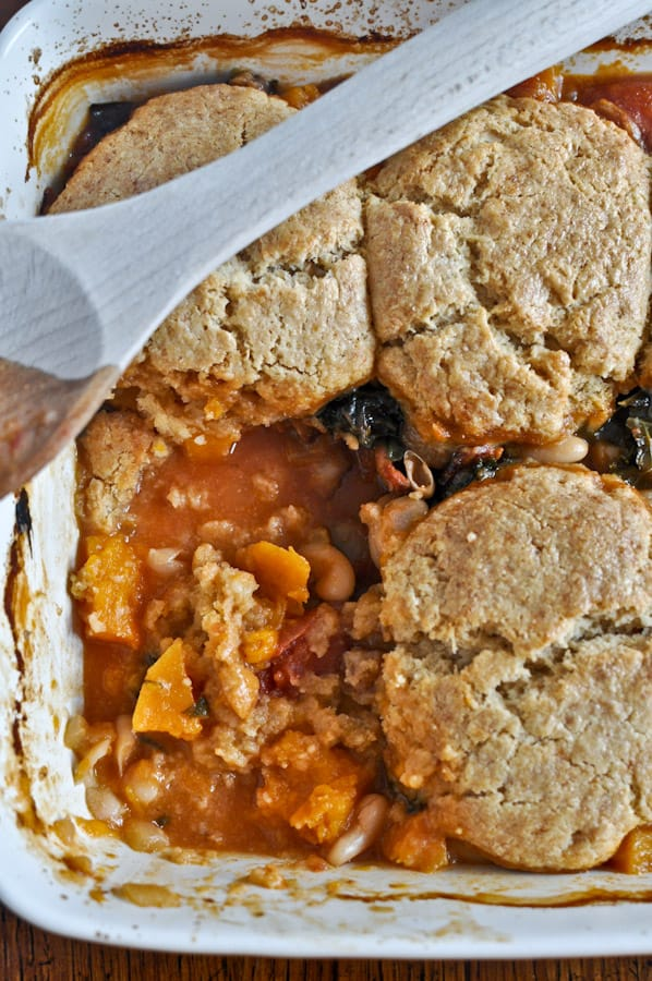 Minestrone Pot Pie with Whole Wheat Parmesan Biscuits from How Sweet ...