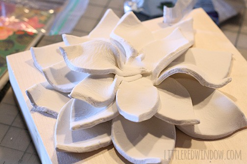 DIY 3D Flower Wall Hanging |  littleredwindow.com