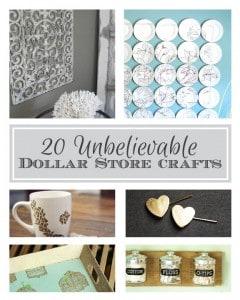 20 Unbelievable Dollar Store Crafts! | littleredwindow.com