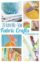 No Sew Fabric Crafts