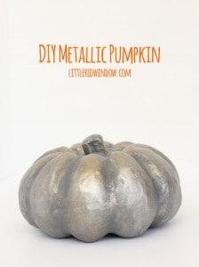 DIY Spooky Metallic Pumpkin for Halloween | littleredwindow.com