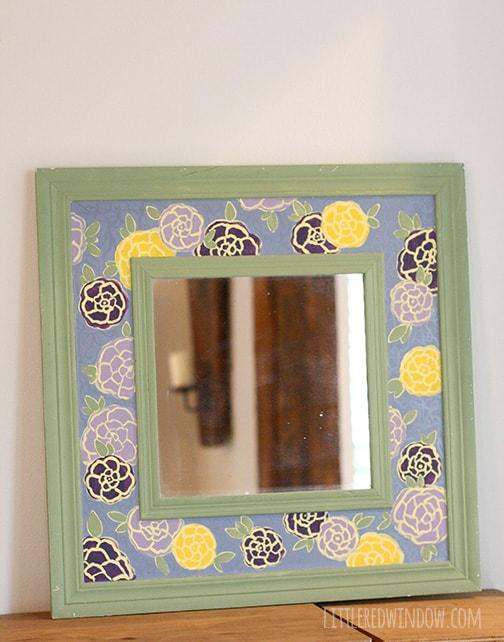 DIY Lace Mirror Makeover | littleredwindow.com
