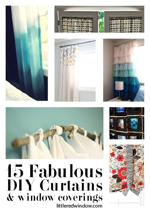 15 Fabulous DIY Curtains and Window Coverings - Little Red ...