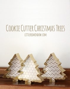 Cookie Cutter Christmas Trees | littleredwindow.com | These little trees are so cute but sooo easy to make!