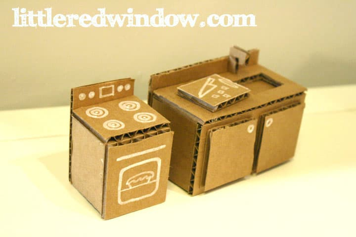 DIY Cardboard Box Doll House | littleredwindow.com | Make a sweet toy ...