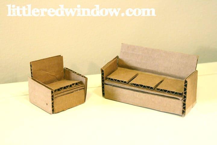DIY Cardboard Box Toy House Little Red Window