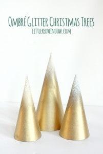 Ombre Glitter Christmas Trees | littleredwindow.com