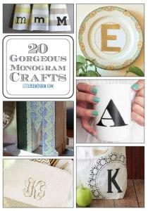 20 Gorgeous Monogram Crafts | littleredwindow.com