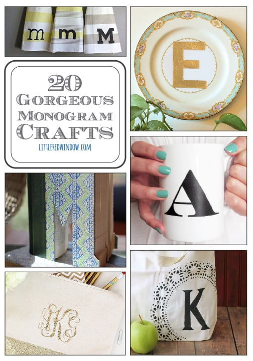 20 Gorgeous Monogram Crafts | littleredwindow.com