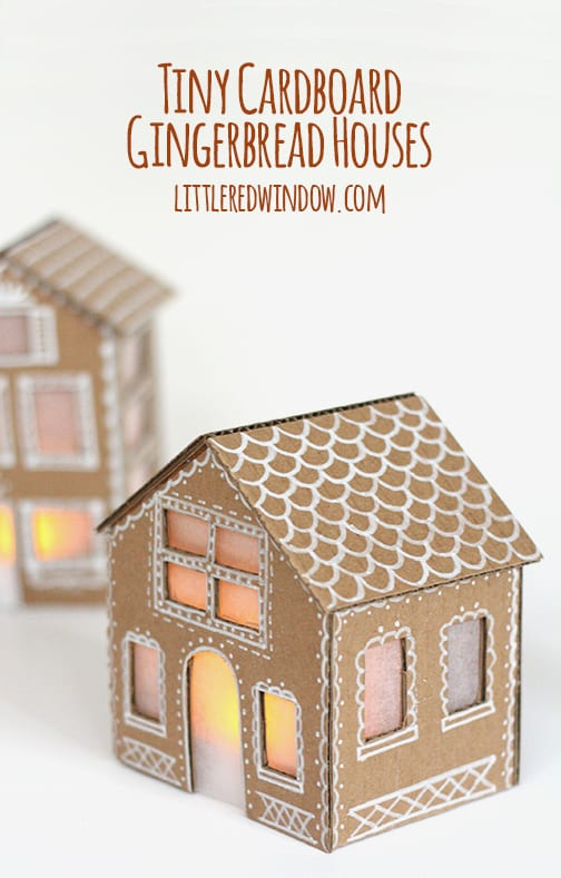 Terrific Tiny Cardboard Gingerbread Houses Little Red Window Largest Home Design Picture Inspirations Pitcheantrous