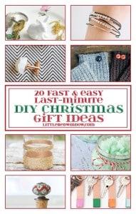 20 Fast & Easy Last-Minute DIY Christmas Gift Ideas| littleredwindow.com