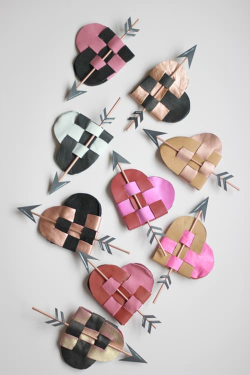 DANISH-LEATHER-HEART-POUCHES